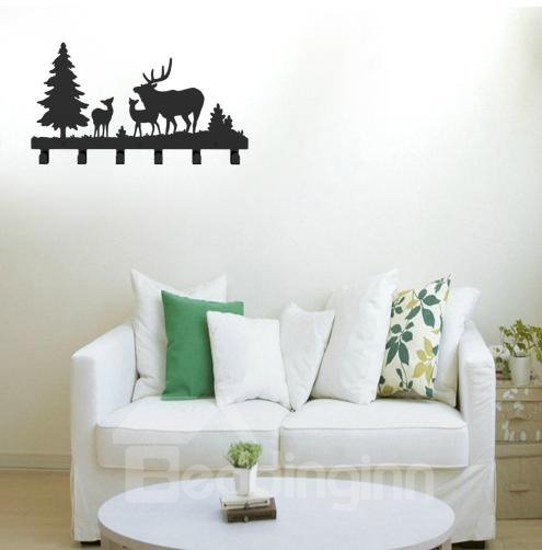 Creative Deer Frost Image Steel Coat Hook