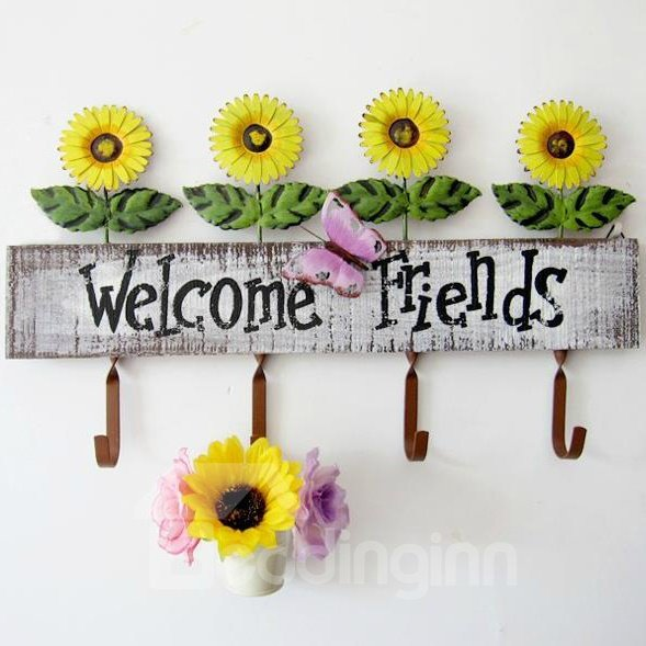 Beautiful Decorative Dynamic Sunflower Image Coat Hook