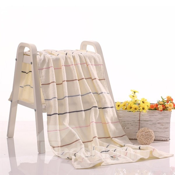Fluffy Stripe Design Full Cotton Bath Towel