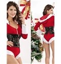 Sexy Adjustable Bust and Waist 2 Pieces Christmas Costume