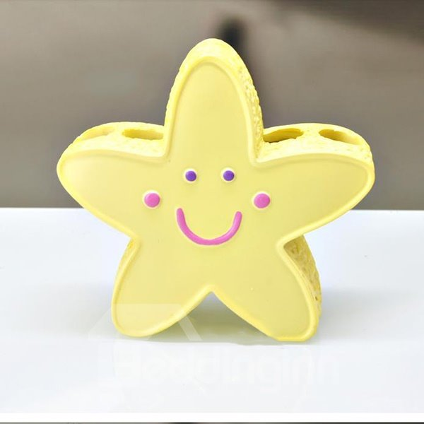 Adorable Star Image Smile Face Toothbrush Holder