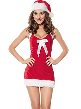 Cute and Furry Seam Velvet Christmas Girl Costume