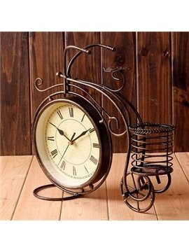 Top Quality Retro Bicycle Pen Container Clock