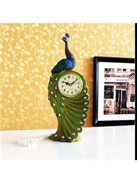 New Style Wonderful Fashion Resin Peacock Clock