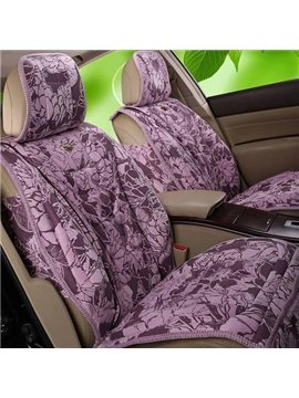 Lovely Blooming Flowers Pattern Ultra Comfortable Car Seat Cover