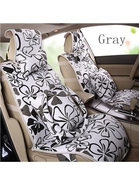 Gorgeous Beautiful Quatrefoil Pattern Ice Flax Car Seat Cover