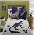 Dinosaur Embroiderys 3-Piece Cotton Duvet Cover Sets