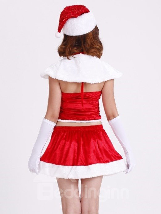 Beautiful And Sexy 5 Pieces Christmas Costume
