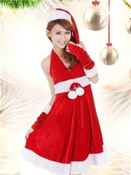 Beautiful And Sexy Mid-length Gown Christmas Costume
