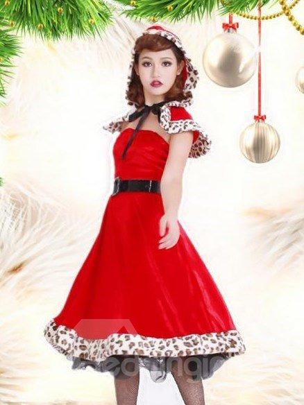Beautiful And Sexy Long Dress Shawl Christmas Costume