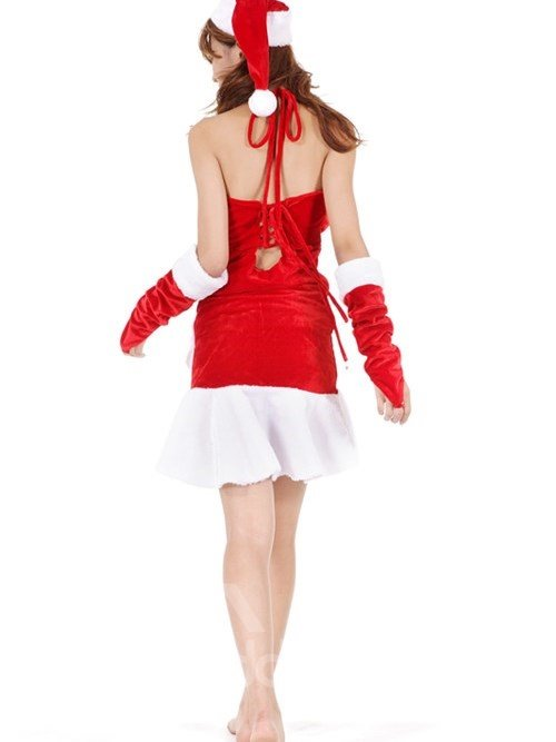 3 Pieces Mini Gown Mermaid Tail Christmas Costume