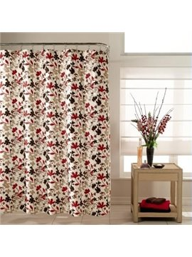 Pretty Lovely Floral Print Polyester Shower Curtain