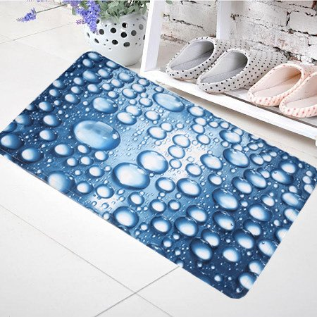 Gorgeous Water Drop Print PVC Bath Rug