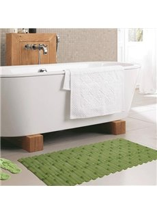 Unique Graceful Bamboo Image PVC Bath Rug