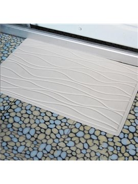 Environmental Cozy Concise Wave Rubber Bath Rug