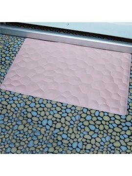 Concise Solid Color Irregular Geometric Figure Bath Mats