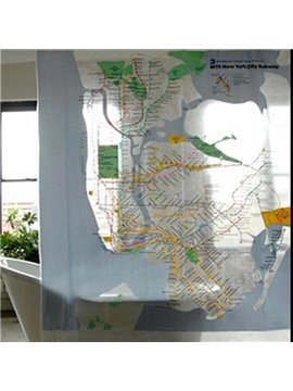 Unique Wonderful Subway Line Design Shower Curtain