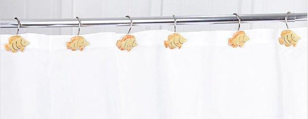 Cute Cartoon Fish Design Shower Curtain Hooks