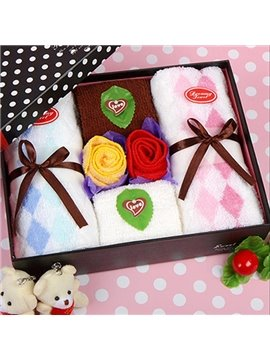 Dreamlike Rose Fold Cotton Towel with Gift Box