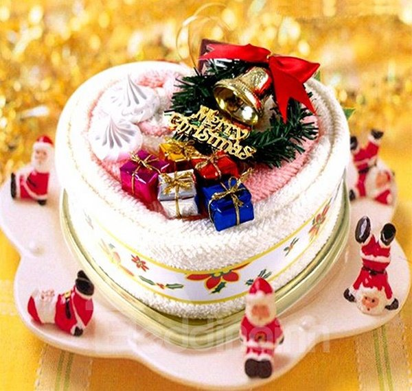 Cheery Cake Fold Christmas Atmosphere Design Towel