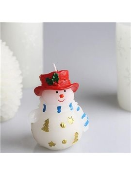 Top Quality New Style Fat Snowman Christmas Candle