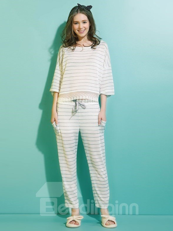 Relaxing 2 Pieces Lose Fit Pajama Set