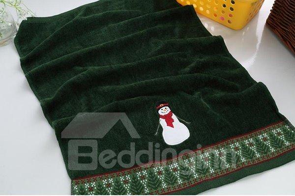 Cheery Christmas Snowman Soft Cotton 3-piece Towel