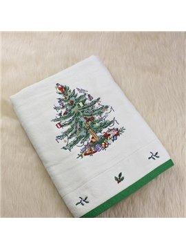 Super Plush Gorgeous Christmas Tree Print Bath Towel