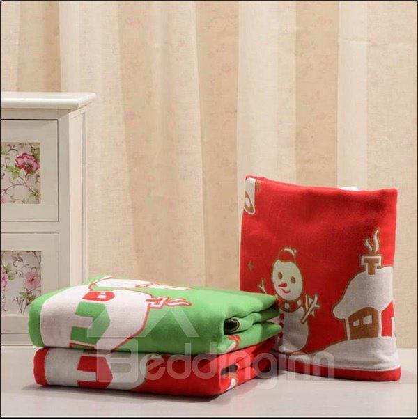 Sweet Christmas Tree Snowman House Soft Bath Towel