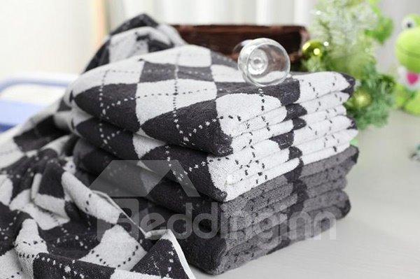 Cozy Super Fluffy Plaid Cotton Bath Towel