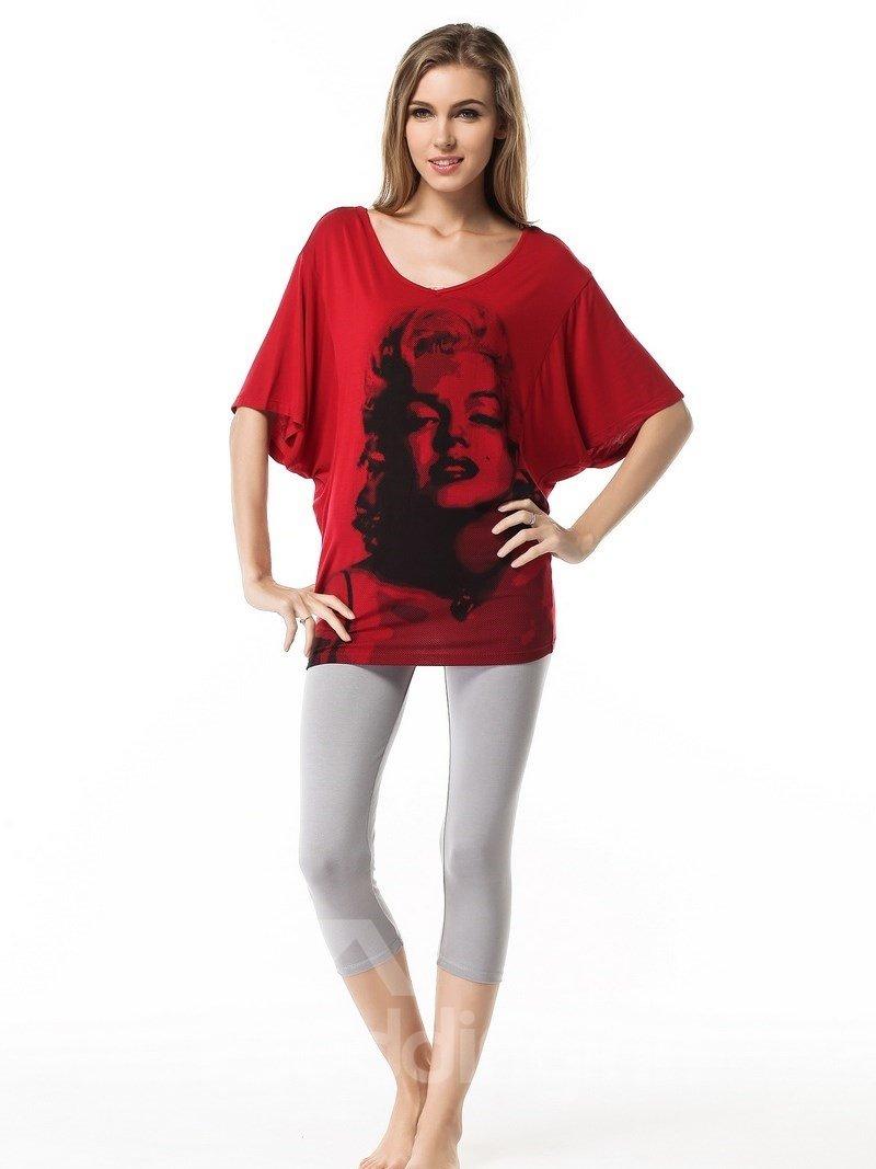 Modal Cotton Marilyn Monroe Loose Fit Pajama Set