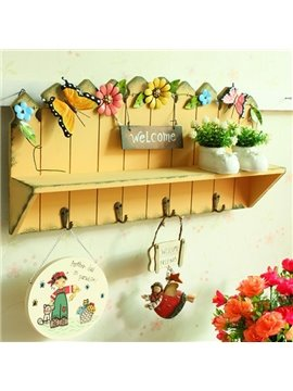 Dreamlike Butterfly Flower Rural Style Bathroom Hooks