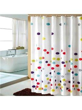 Vigorous Fantastic Colorful Circle Dacron Shower Curtain