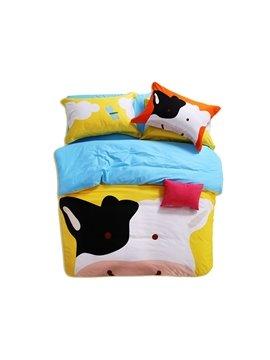 Skincare Pure Cotton Cow Print 3-Piece Kids Duvet Cover Sets