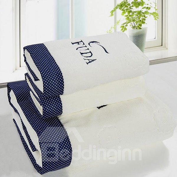 Fashion Lovely Dots White 3-piece Bath Towel Set