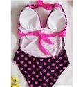 Sexy Open Bakc V Neck 1 Piece Monokini