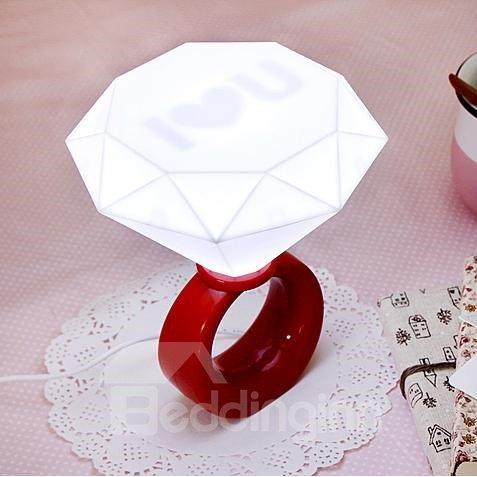 Wonderful Diamond Ring Shape LED Night Light