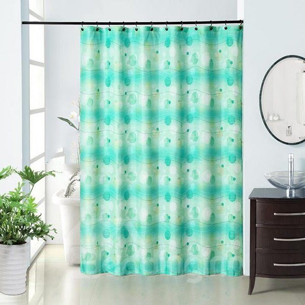 European Fresh Graceful Dacron Waterproof Shower Curtain
