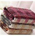 High Quality Plush Full Cotton Plaid Towel