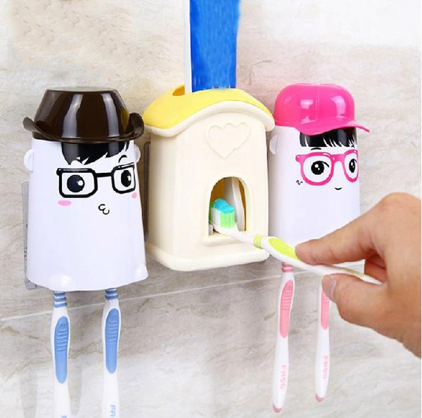 Adorable Cartoon Toothbrush Holder with  Touch N Brush