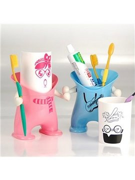 Cool Stylish Cartoon Creative Plastic Toothbrush Holder