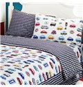 All Kinds of Toy Cars Print 3-Piece Cotton Duvet Cover Sets