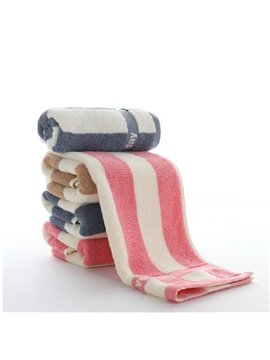 Chic Stripe Skincare Soft High Quality Towel