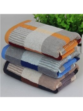 Fashion Plush Plaid Style 100% Cotton Towel