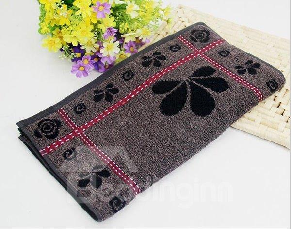 Fabulous Deep Color Flower Pattern Cotton Towel