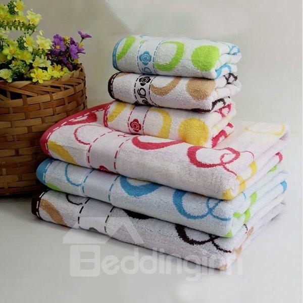 Cute Circle Comfy Cotton 2-piece Bath Towel