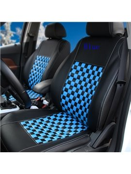 All-Ilclusives Style Classic Colors Matching Squares Pattern Ultra Comfortable Car Seat Cover
