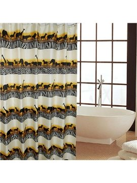 Unique Cool Animals Migrate Print Shower Curtain