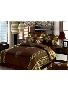Luxury Noble Golden Royal Pattern 4-Piece Duvet Cover Sets