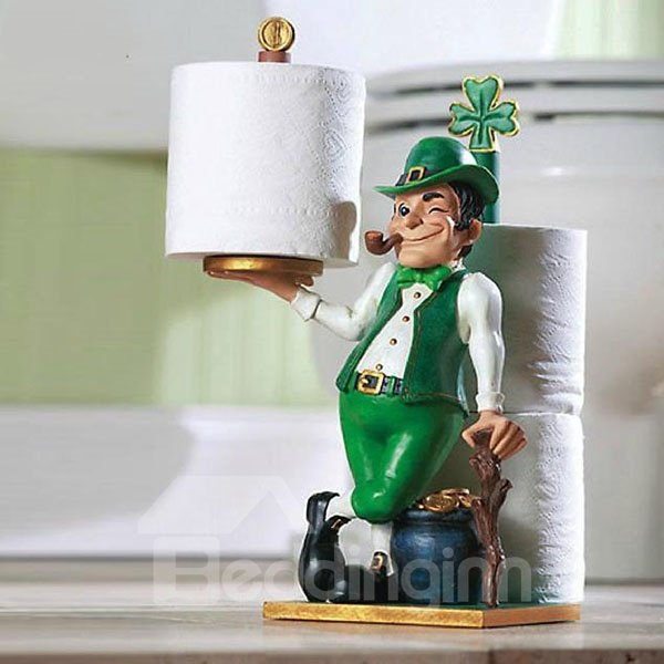 Gorgeous Adorable Little Man Toilet Paper Holder